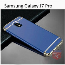 3 In 1 Ultra Thin Hard Coated Matte Surface Back Cover for Galaxy J7 Pro - Blue